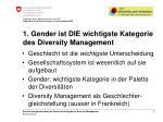 1 gender ist die wichtigste kategorie des diversity management
