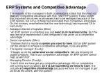 erp systems and competitive advantage