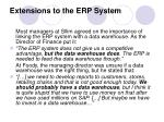 extensions to the erp system