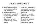 mode 1 and mode 23