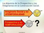 la alquimia de la prospectiva y los imaginarios en la construcci n social