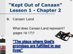kept out of canaan lesson 1 chapter 215