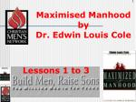 maximised manhood by dr edwin louis cole