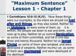 maximum sentence lesson 1 chapter 19