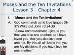 moses and the ten invitations lesson 3 chapter 4