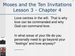 moses and the ten invitations lesson 3 chapter 4101