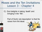 moses and the ten invitations lesson 3 chapter 4104
