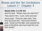 moses and the ten invitations lesson 3 chapter 4105