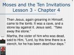 moses and the ten invitations lesson 3 chapter 4106