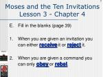 moses and the ten invitations lesson 3 chapter 4113
