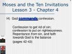 moses and the ten invitations lesson 3 chapter 4118