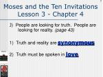 moses and the ten invitations lesson 3 chapter 4123