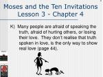 moses and the ten invitations lesson 3 chapter 4124