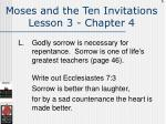moses and the ten invitations lesson 3 chapter 4126