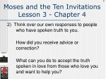 moses and the ten invitations lesson 3 chapter 4132