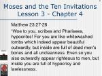 moses and the ten invitations lesson 3 chapter 4134