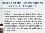 moses and the ten invitations lesson 3 chapter 4135