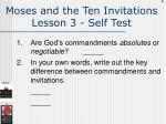 moses and the ten invitations lesson 3 self test