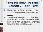 the playboy problem lesson 2 self test