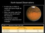 earth based observations