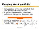 mapping stock portfolio