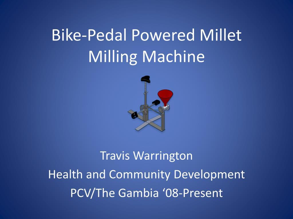 bike pedal powered millet milling machine l.