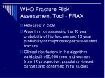 who fracture risk assessment tool frax