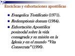 enc clicas y exhortaciones apost licas
