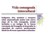 vida consagrada intercultural