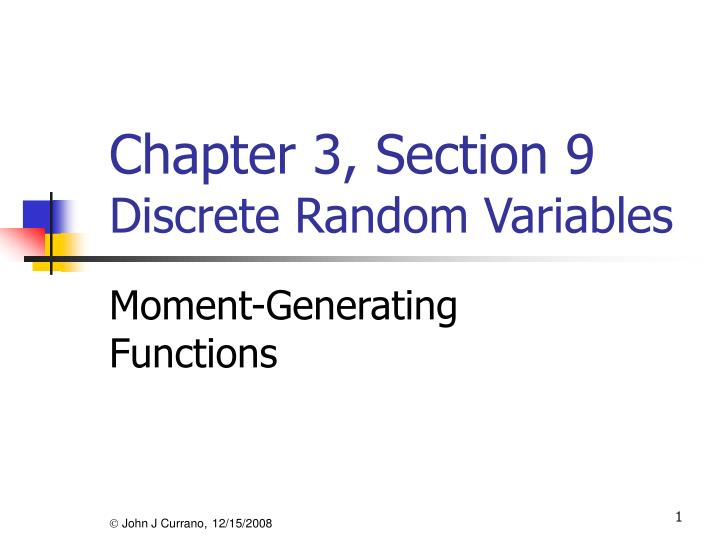 chapter 3 section 9 discrete random variables n.