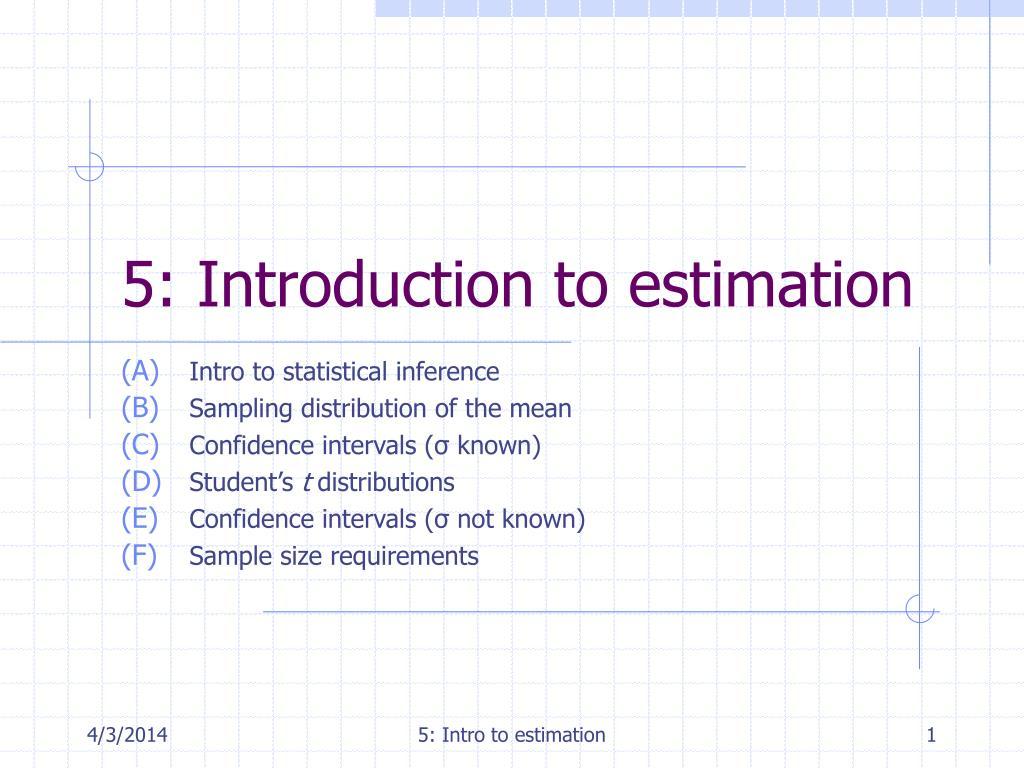 5 introduction to estimation l.
