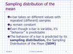 sampling distribution of the mean