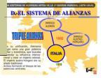 d el sistema de alianzas