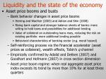 liquidity and the state of the economy15