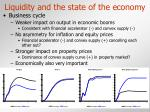 liquidity and the state of the economy18