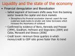 liquidity and the state of the economy19