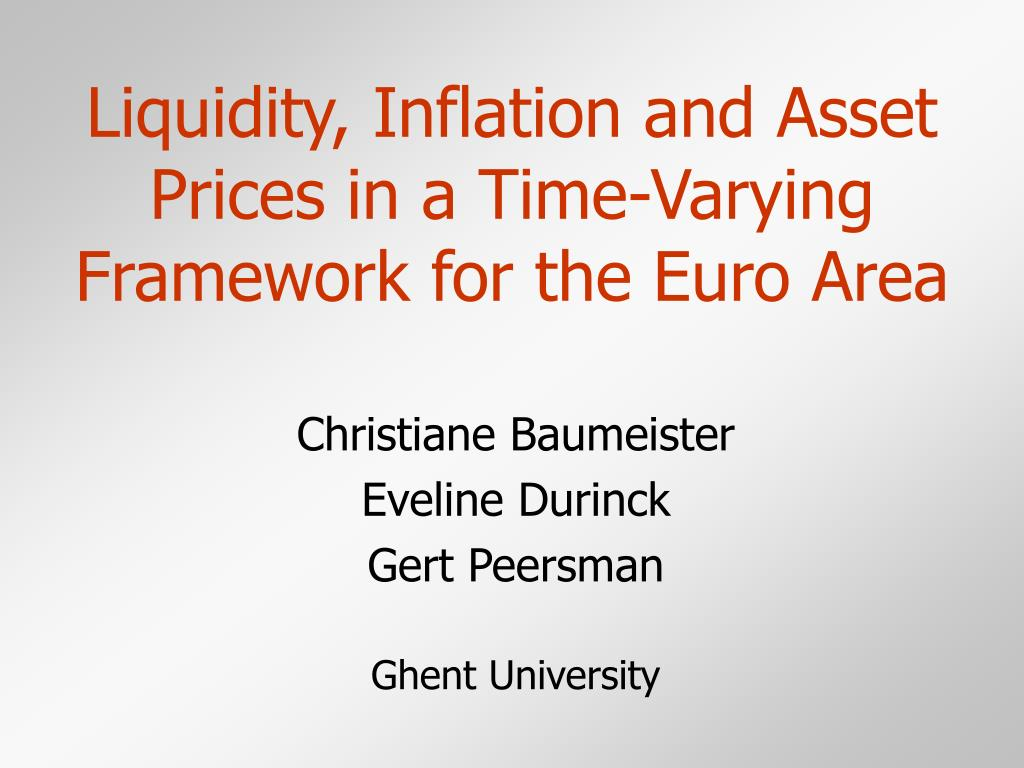 liquidity inflation and asset prices in a time varying framework for the euro area l.