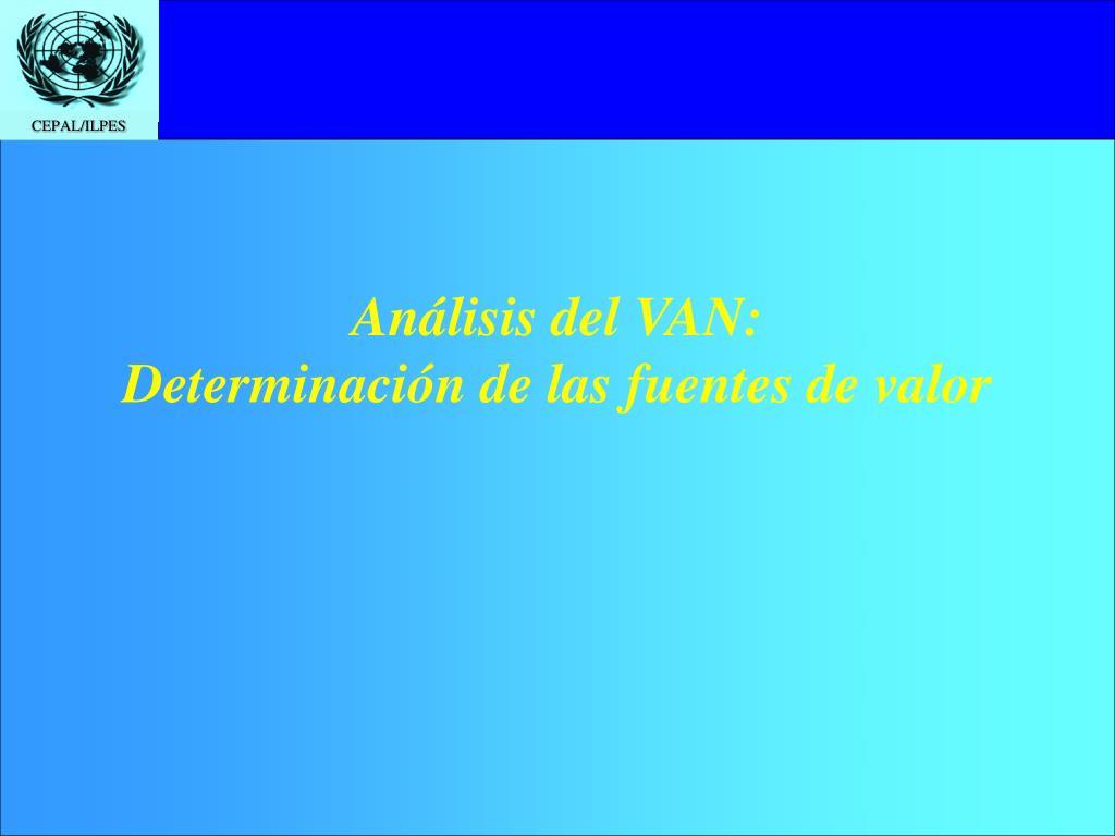 Análisis del VAN:
