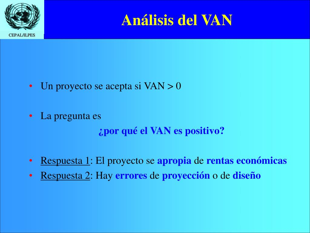 Análisis del VAN