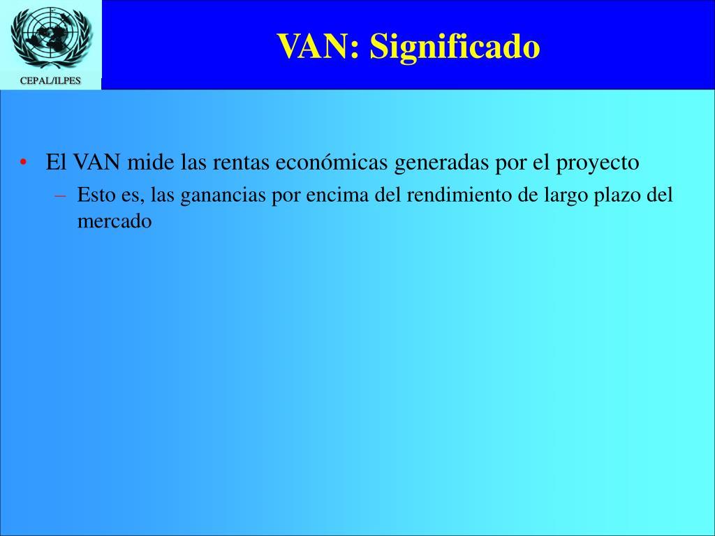 VAN: Significado
