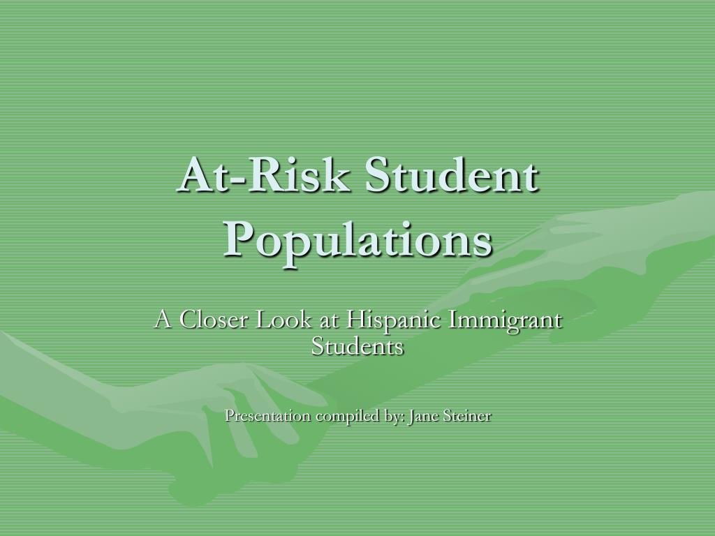 at risk student populations l.