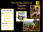 patrimonio cultural tangible mueble
