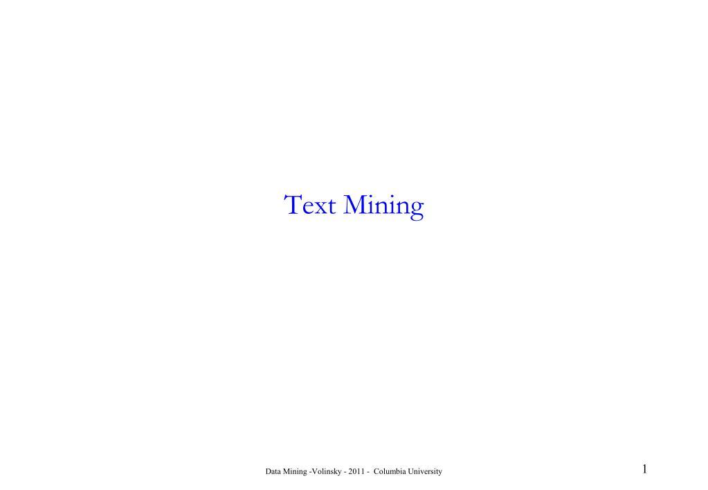 text mining l.
