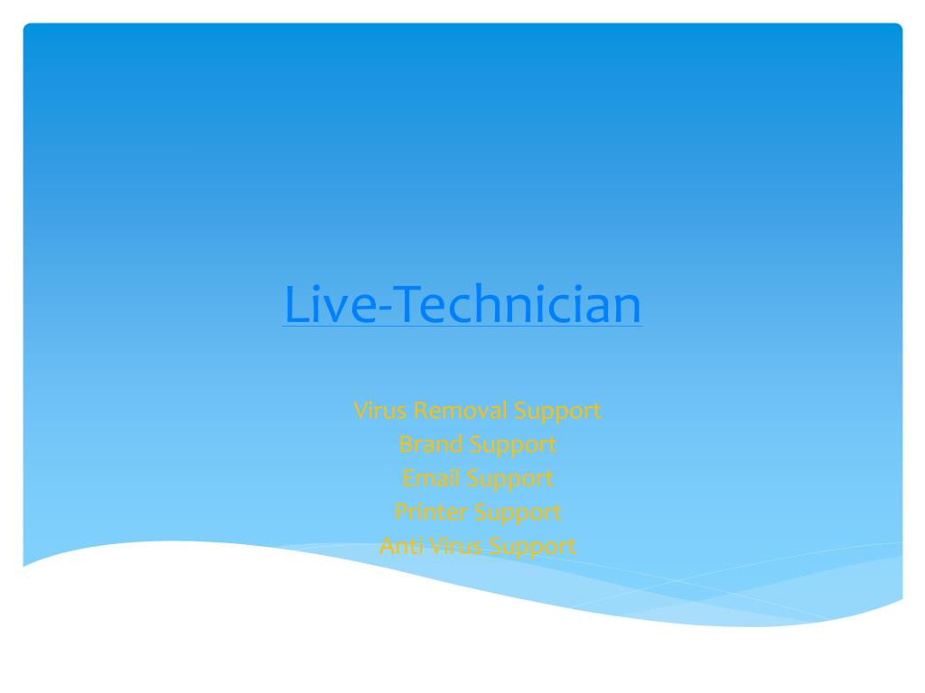 live technician l.