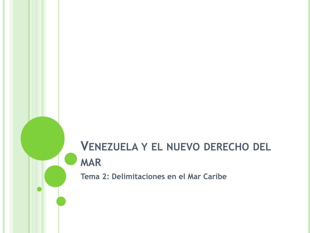venezuela y el nuevo derecho del mar l.