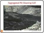 segregated pit cleaning cell