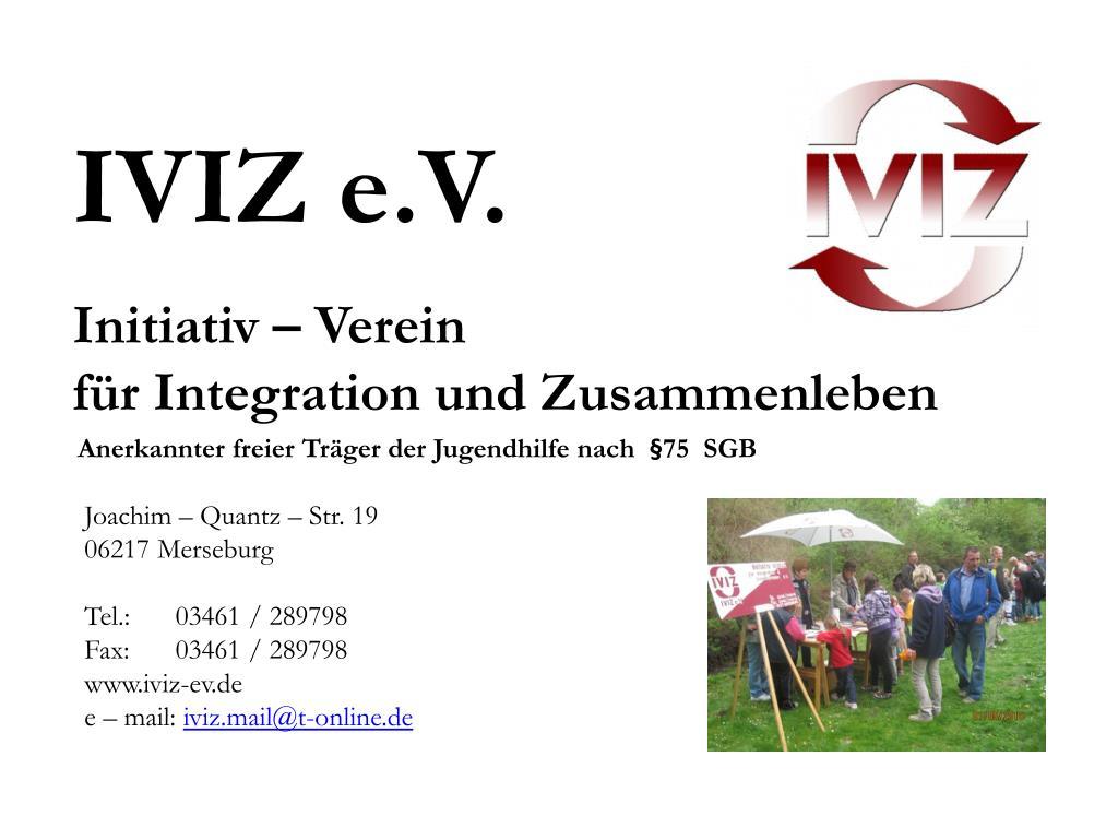 initiativ verein f r integration und zusammenleben l.
