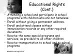 educational rights cont