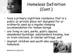 homeless definition cont