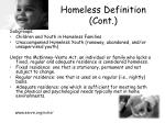 homeless definition cont8